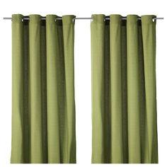 MARIAM Gordijnen, 1 paar - IKEA Groene gordijen in de woonkamer? Of paars