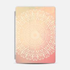 HAPPY CHIC ROSE MANDALA - IPAD - Photo Cover #ipad #cover #mandala #apple #hippie #indie #boho  #chic #illustration #inspirational #meditation #yoga #spiritual