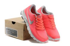 63%-off 2014 Nike Free 5.0 V4 Women Orange Red Grey White
