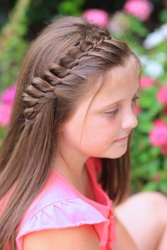 Four Strand French Braid Pinback from Cute Girls Hairstyles