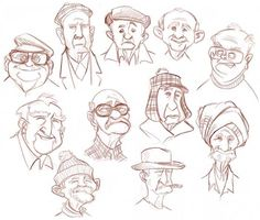 sketch old men - Recherche Google