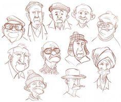 sketch old men - Recherche Google More