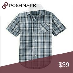 Men's Timberland Allendale River Plaid Sportshirt Men's Large, button front short sleeve casual Plaid shirt. Chest pocket, cotton. Timberland Shirts Casual Button Down Shirts