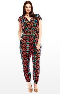 9179d9cecad9 FTF coral print jumpsuit Plus Size Jumpsuit