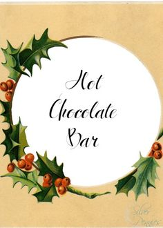 Hot Chocolate Bar - sweet ideas and free printables for creating your own cozy bar this winter!