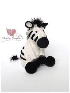 Knuffel zebra gemaakt door Dani's Creaties. Een heel leuk en lief gratis Nederlands patroon om te haken.
