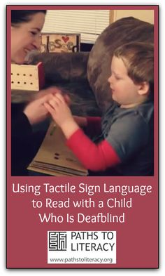 This post from a parent shares strategies with video examples of reading braille with a young child who is deafblind.