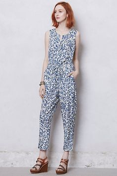 these rompers are so fun for a session!  Blue Toile Jumpsuit #anthropologie