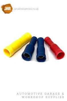 Female Bullet Receptacle Socket Terminals (Red, Blue, Yellow) - (Pack 100 or