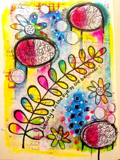 Fun art journal page