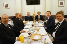 The Worshipful Master and some of his personal guests - March 2014