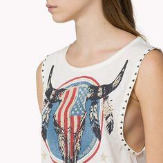 Hilfiger Denim Athena Printed T-shirt - egret-pt (White) - Hilfiger Denim T-Shirts - detail image 2