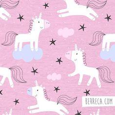 Magic unicorns!✨#berreca #unicorn #unicornio #pattern #surfacepattern #surfacepatterndesign #print #estampado #estampadospersonalizados #illustration #ilustracion #rosa #pink #fantasy #fantasia Unicorn Kids, Unicorn Art, Cute Unicorn, Unicorn Illustration, Pattern Illustration, Kids Prints, Baby Prints, Baby Patterns, Print Patterns