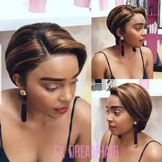 Mixed Brown short Cut Full Lace wig👇 Cool Style for cool Summer 🌪🌪 Consider to send the same earring as Gift , Yay or Nay🤔 So show me ur precious point now👇 Short Pixie Wigs, Short Lace Front Wigs, Short Human Hair Wigs, Pixie Cut, Tree Braids Hairstyles, Short Weave Hairstyles, African Hairstyles, Curly Hair Styles, Natural Hair Styles