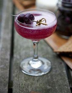 REVEL: Perfect Fall Cocktail: 1 1.2 oz reposado tequila 1/2 oz creme de cassis 1/2 oz ginger syrup 1/2 lemon bourbon cherries to garnish