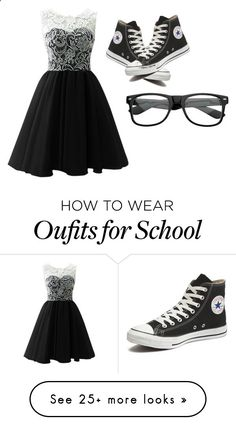 Me in the middle school dance hopefully (insert my crush name) asks me by themysteriousmultifandomgirl on Polyvore featuring Converse, womens clothing, women, female, woman, misses and juniors