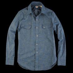 UNIONMADE - Levi's Vintage Clothing - 1940s LS Shirt Green Cast Jaspe