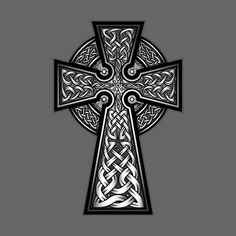 The Celtic Cross is one of the most popular and enduring symbols of Celtic identity and culture. In the Dark Ages, as the Celtic populations of Britain and Irel Celtic Cross Tattoo For Men, Cross With Wings Tattoo, Celtic Tattoos For Men, Irish Tattoos, Celtic Art, Scottish Tattoos, Celtic Crosses, Cross Tattoo Designs, Tattoo Designs Men