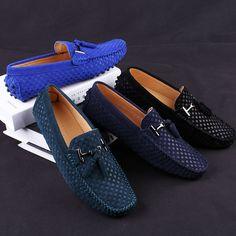 Genuine Leather Luxury Moccasins KANTANGUA is part of Dress shoes men - Genuine Leather Luxury Moccasins Upper MaterialGenuine Leather UpperGenuine Leather TypeCow Leather Lining MaterialPU Outsole MaterialRubber Insole Ma Stylish Mens Fashion, Mens Boots Fashion, Fashion Shoes, Men Fashion, Mens Loafers Shoes, Loafer Shoes, Men Sneakers, Blue Loafers, Ascot Shoes