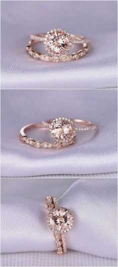 Morganite Engagement ring / http://www.himisspuff.com/engagement-rings-wedding-rings/6/