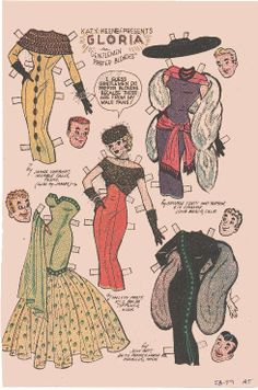 Gloria paper doll from Katy Keene pg 2 / eBay http://www.pinterest.com/electrika/paper-dolls/