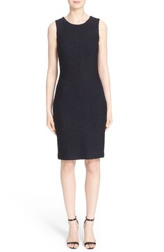 St. John Collection 'Midnight' Metallic Knit Sheath Dress $995.00  #BestPrice #shopping #WomensClothing
