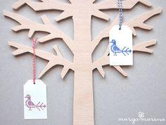 """Stempel Kreuzstich """"Vogel""""    marga.marina´s handgezeichnete *Kreuzstich Stempel* verwandeln deine Papier- und Stoffprojekte   auch ganz ohne Nadel un"""
