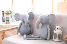 Looking after more than one elephant at a time requires the ability to multi-tusk. These elephant plushies available soon at muffincheeks.com! Kids Decor, Home Decor, Kidsroom, Baby Cribs, Plushies, Little Ones, Nursery Decor, Dinosaur Stuffed Animal, Elephant