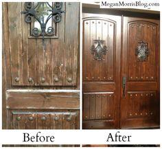 wooden front door   Wood Front Door Refinishing Business - Cary ...