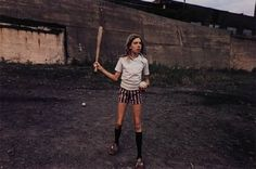 MARK COHEN | Girl with bat and ball | 1970
