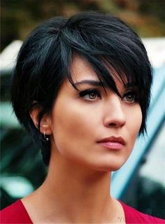 Short Straight Black Wig Synthetic Cosplay Wigs Natural Looking Wig for Women - New Hair Styles Short Pixie Haircuts, Short Hairstyles For Women, Messy Hairstyles, Straight Hairstyles, Natural Hairstyles, Black Hairstyles, Layered Hairstyles, Bob Haircuts, Hairstyle Ideas
