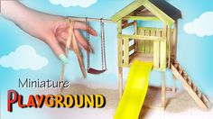 Hey guys! Today's wood and polymer clay tutorial is going to be for part of a miniature playground :) I made a 'tower', swing and a slide, keeping the constr...