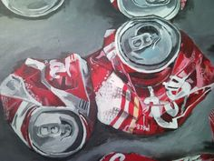 painting onto coke cans - Google Search