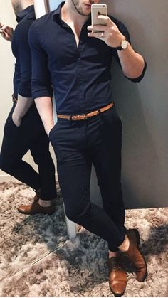 Mens Casual Dress Outfits, Formal Men Outfit, Stylish Mens Outfits, Casual Shirts For Men, Men Casual, Mens Formal Shirts, Formal Dresses For Men, Men Formal, Men's Business Outfits