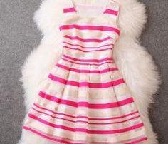 New luxury Stripe Dress - Red