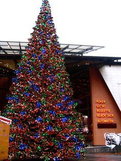 Een van de grootste kerstbomen in Berlijn bevindt zich waarschijnlijk vlakbij de Marlene Dietrich-Platz. (c) Nel Exelmans