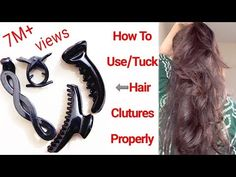 How to Use/Tuck Hair Clutchers Properly|Tips For beginners|Alwaysprettyuseful by PC - YouTube