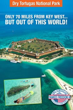 Advanced Booking Discount. Save $50* on 2 adult tickets. Valid August 16 - December 18, 2015.* As part of your day-long adventure at The Dry Tortugas National Park, explore Fort Jefferson, snorkel in tranquil waters, and relax on pristine beaches. Click image for more details. *Certain blackout dates and restrictions apply.