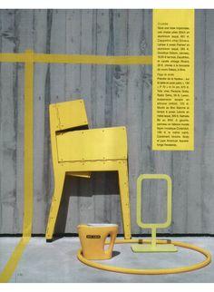CAPPELLINI - Stitch chair in yellow by Adam Goodrum