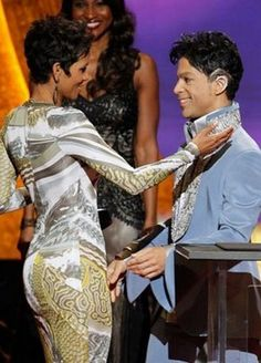 Halle Berry and Prince at the 42nd NAACP Image Awards 2011