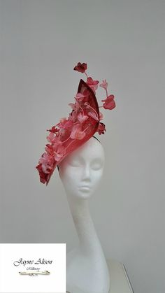 Gorgeous Hatinator,Pink Fascinator, Kentucky Derby Hat, Fuschia Headpiece,Wedding Fascinator, Mother of the Bride Hat,Royal Ascot Fascinator by JayneAlisonMillinery on Etsy https://www.etsy.com/se-en/listing/603770193/gorgeous-hatinatorpink-fascinator