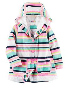 Kid Girl Striped Raincoat | Carters.com