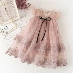 Girl Dress Kids Dresses For Girls Mesh Casual Lace Embroidery Princess Baby Girl. Girl Dress Kids Dresses For Girls Mesh Casual Lace Embroidery Princess Baby Girl Clothes Summer Sleeveless Dress Kids Clothes Girls Lace Dress, Cute Girl Dresses, Toddler Girl Dresses, Little Girl Dresses, Dress Lace, Baby Girl Party Dresses, Dresses For Kids, Baby Wedding Outfit Girl, Gown Dress