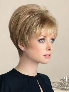 New Addition by Rene of Paris - Clip In Hair Enhancer Topper - Short Hair Styles Very Short Hair, Short Hair With Layers, Short Hair Cuts For Women, Short Hair Styles, Hairstyles For Round Faces, Short Hairstyles For Women, Bob Hairstyles, Hairstyle Names, Hairstyle Ideas