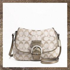 'Coach Soho Metallic Flap Crossbody NWT' is going up for auction at  9pm Sat, Jan 26 with a starting bid of $60.