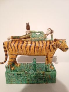 Tiger by Anna Noel ; exhibition Ruthin Craft Centre