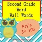 These are second grade sight words. Fry's 3rd 100.  They can be used as word wall cards or as flash cards. You may print these front to back as fla...