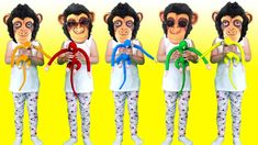 Animals song for Kids by Alina Funny Show. Disney Paper Dolls, Five Little Monkeys, Kids Songs, Ronald Mcdonald, Disney Characters, Fictional Characters, Tattoo, Disney Princess, Videos
