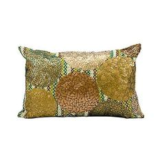 """Kathy Ireland Future 12"""" x 20"""" Green Copper Pillow (585 CNY) ❤ liked on Polyvore featuring home, home decor, throw pillows, lampsplus, green accent pillows, copper throw pillow, green throw pillows, copper accent pillows and copper home accessories"""