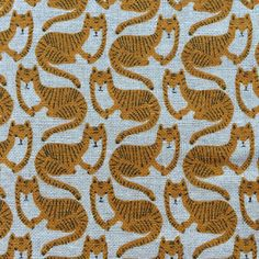 Tigers on natural - 4 fat quarter metres Textile Design, Fabric Design, Japanese Imports, How To Make Clothes, Double Gauze Fabric, Gorgeous Fabrics, Cute Crafts, Summer Sale, Craft Supplies